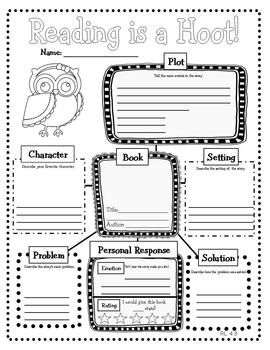 Owl Themed Common Core Reading Literature Graphic Organizers.  Great to use with almost any book.  $