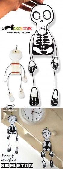 DIY Funny hanging skeleton