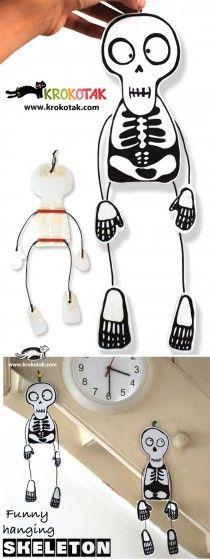 DIY Funny hanging skeleton