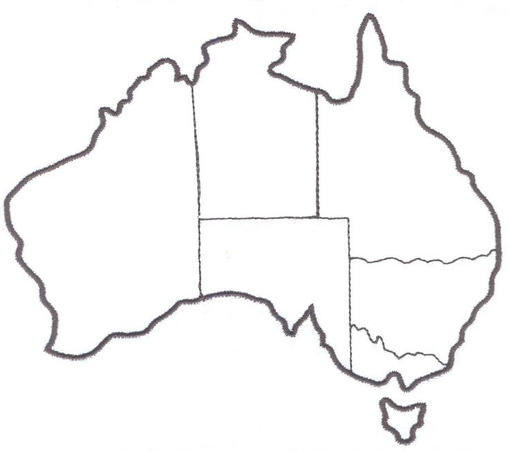 Australia map for labeling (states, territories, and capital cities)