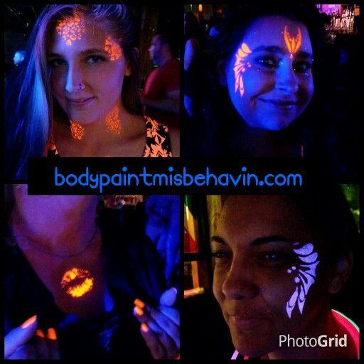#glowparty,  #blacklightfacepaint,  #bodypaintmisbehavin
