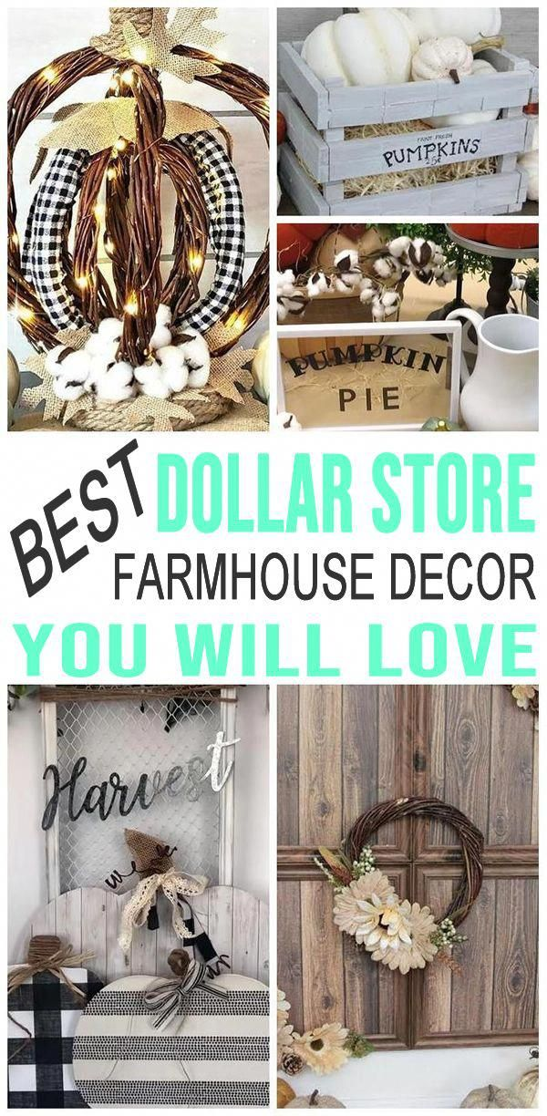 Dollar Store Hacks To Make Your Home Look Amazing Diy Farmhouse Fall Decor Ideas For House Apartment Or Sma Fall Decor Diy Farmhouse Fall Decor Dollar Stores