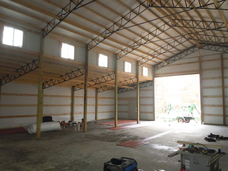 1000 images about 30x80 monitor enclosed steel truss for Monitor pole barn