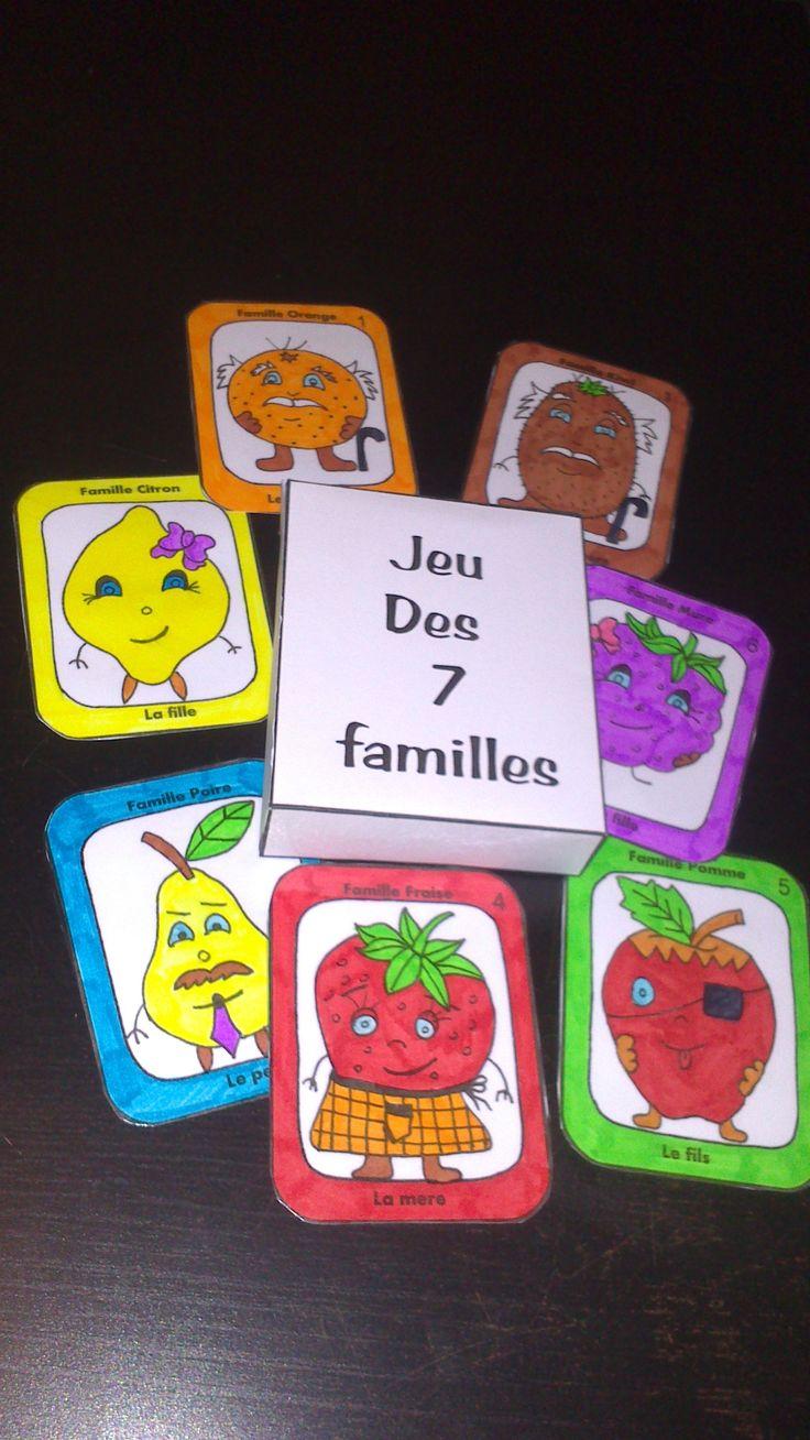 Jeu des 7 familles ( les fruits)