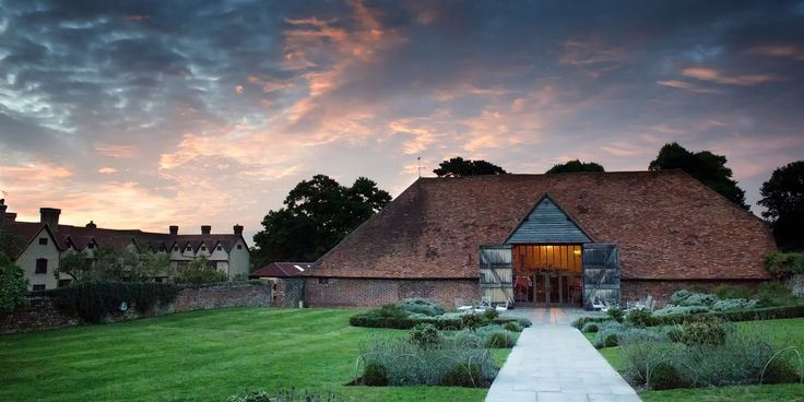 The beautiful tithe barn at Ufton Court.
