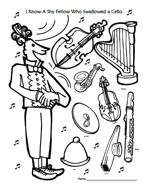 i know a shy fellow who swallowed a cello coloring page from http