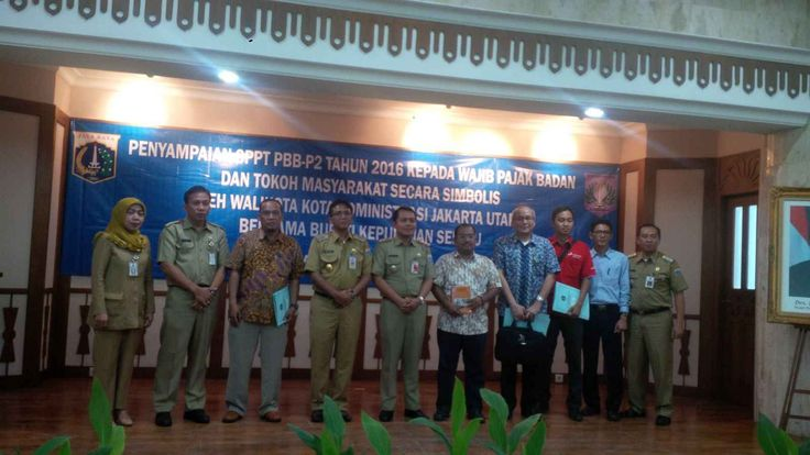Penyerahan SPPT PBB-P2 tingkat Walikota Jakarta Utara dan Kabupaten Kepulauan Seribu