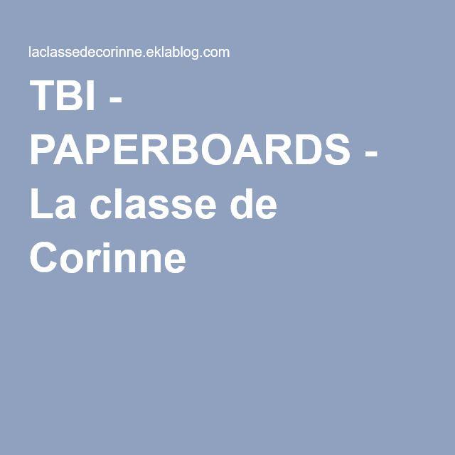 TBI - PAPERBOARDS - La classe de Corinne