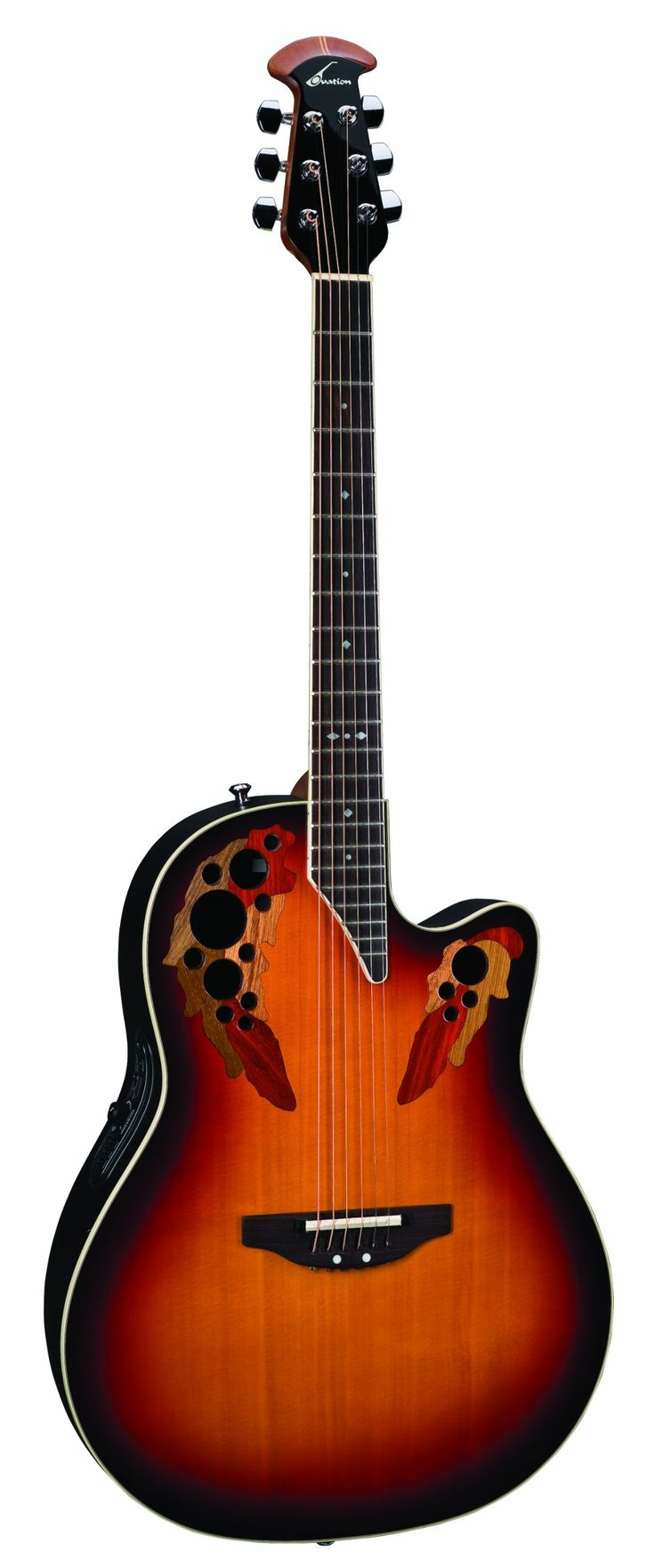 Ovation 2778 AX Standard Elite Deep Contour Acoustic Electric Guitar, New England Burst. Deep Contour. AA Grade Solid Spruce Top. Inlaid Exotic Hardwoods.
