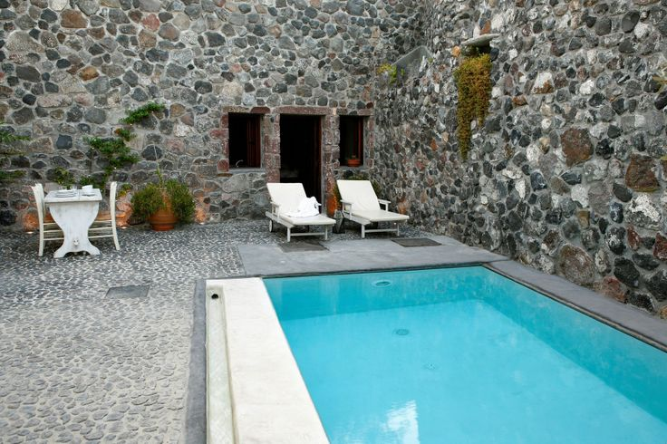 Stone House in #Megalochori features exposed stone-built walls, creating a trully traditional setting.