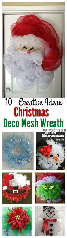 10+ Creative Christmas Deco Mesh Wreath Ideas Contact us for custom printing services www.topclassprinting.com