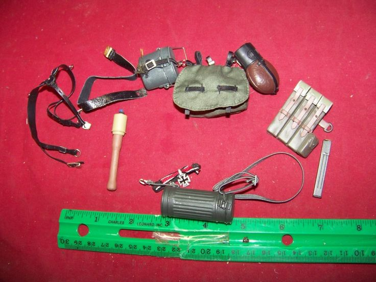 1/6th Scale German Army Belt, Suspenders, Pouch & More #13