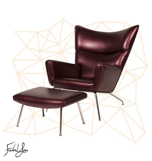 Baron Lounge Chair - Aubergine. www.funkyou.com.au