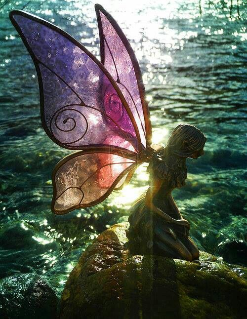 The fairy who became a statue Not sure exactly why but I love this!!!!!