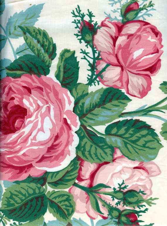 English Garden Chintz Fabric  1 Yard by vickifab on Etsy, $10.00
