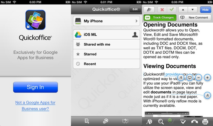 Following iPad release, Google rolls out free Android and iPhone versions of Quickoffice for Apps customers
