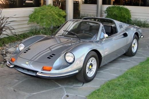 "#33. 1972 Dino 246GTS (Euro): Total Dino 246 production was 3569 - 2295 GTs & 1274 Spyders, the latter built from 1972 to '74 - in 3 series differing in wheels, windshield wiper coverage & engine ventilation. Series I cars (357 built through mid '70) used the center-bolt wheels from the 206. Series IIs (507 built through July '71) received 5-bolt Cromodora alloys & ""clap-hands"" wipers. Series IIIs (2705 total, 1431 coupés) began sales in the US - and had minor gearing & fuel supply…"