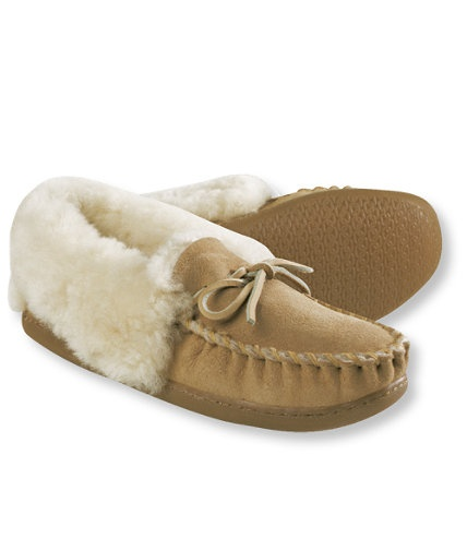 I have these, and they are so cozy--Wicked Good slippers from L.L Bean