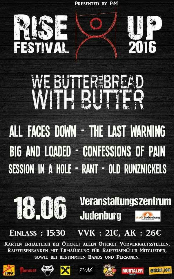 Line Up - Rise Up Festival 2016 - Judenburg