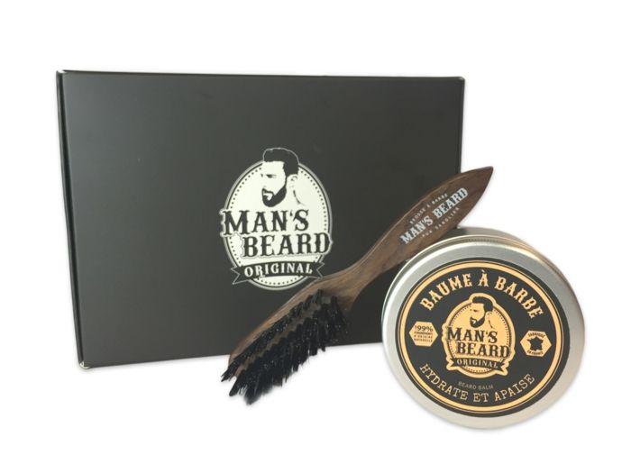 brosse et baume produit entretien barbe