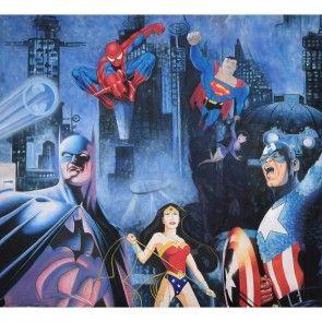 Super Heroes Painted Backdrop BD-0840