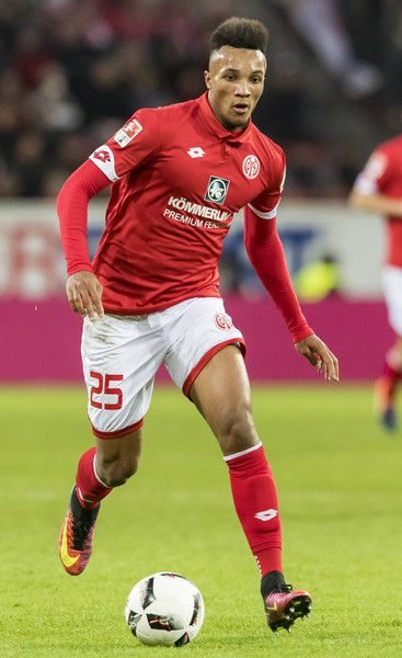 Jean-Philippe Gbamin of Mainz 05 during the Bundesliga match between 1. FSV Mainz 05 and SC Freiburg at Opel Arena on November 19, 2016 in Mainz, Germany.