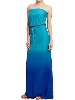 Womens Tube Maxi Dresses - Old Navy