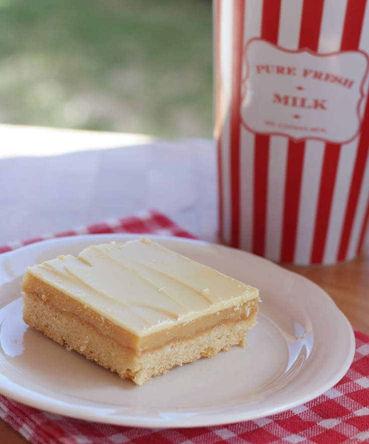 White Chocolate Caramel Slice | A Spoonful of Sugar