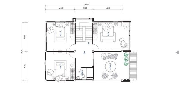 House Design Plan 8x17m With 6 Bedrooms Home Ideassearch Home Design Plans House Design 6 Bedroom House Plans