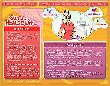 Website Page SWiSH Templates by Leonardo
