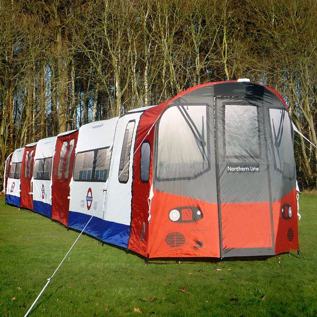 An epic London Underground Tube Tent for train fans and c&ers to re-live their glorious nights outs and drift off to sleep on the train. The c&ing tent & 20 best Creative tents images on Pinterest | Tents Tent and ...