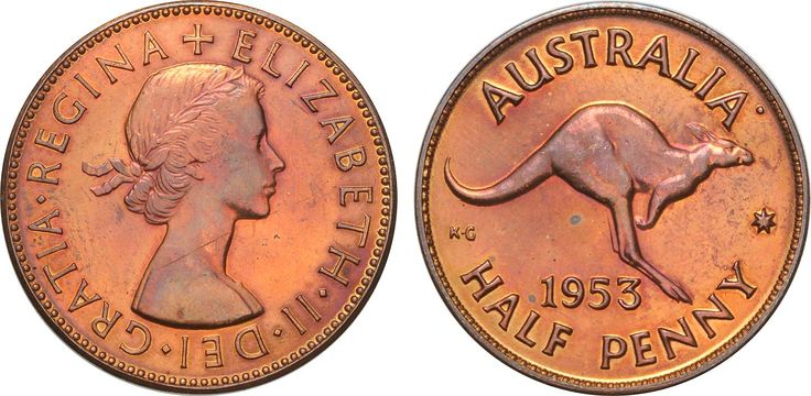 1953 Perth Halfpenny, old mark on monarch's neck else aFDC and very rare.  Lot: 1399 Estimate: $9,000