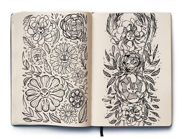 Рисунки из скетчбуков в стиле пампинг