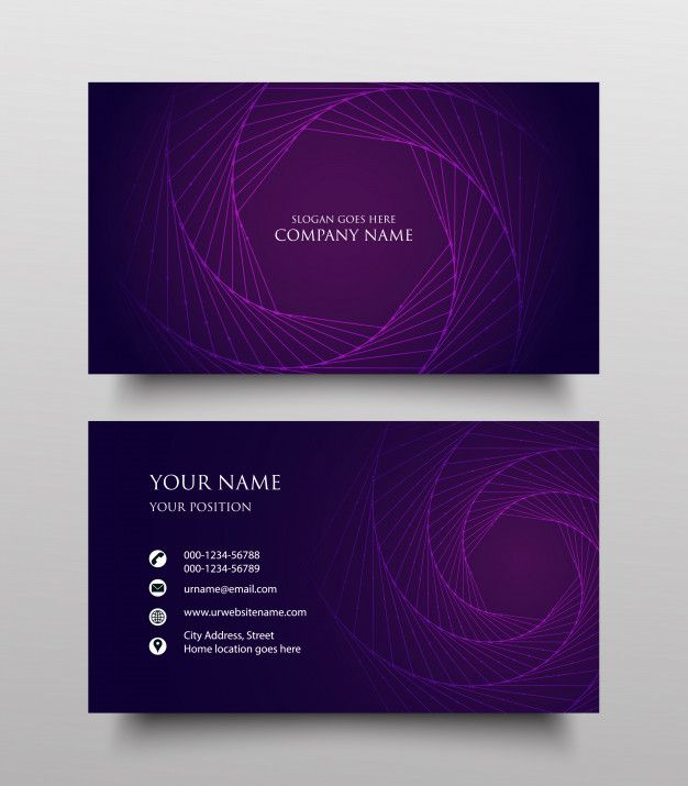 Creative Business Card Template Design Two Sided With Fluid Gradient On Purple Background Business Cards Creative Templates Business Cards Creative Business Cards Photography