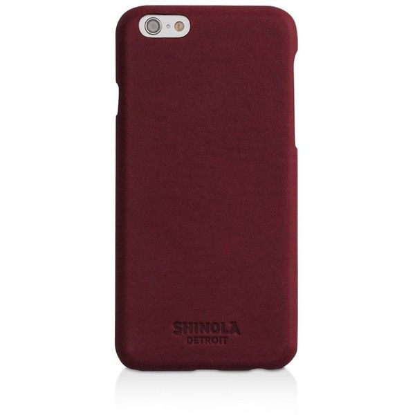Shinola iPhone 6/6s Leather Case ($90) ❤ liked on Polyvore featuring men's fashion, men's accessories, men's tech accessories, burgundy and mens leather accessories
