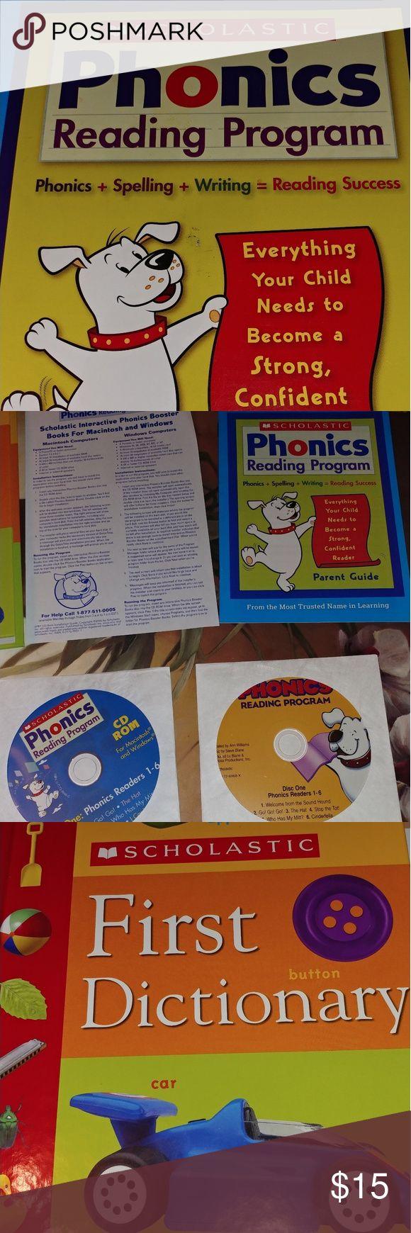 Scholastic reading program Dictionary, 3 beginner books, 2 CD, stickers, workbook and bingo game__parent handbook guide scholastic Other