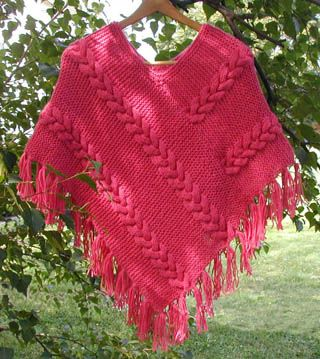 Free Crochet Poncho Patterns Adults : Cable, Search and Stitches on Pinterest