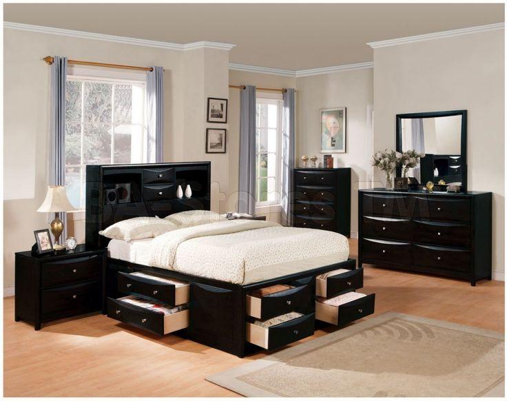 Die besten 25+ Black bedroom sets queen Ideen auf Pinterest - stilvolles gotisches schlafzimmer