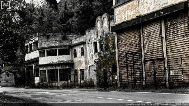An old abandoned important Italian fascist era aviation factory.