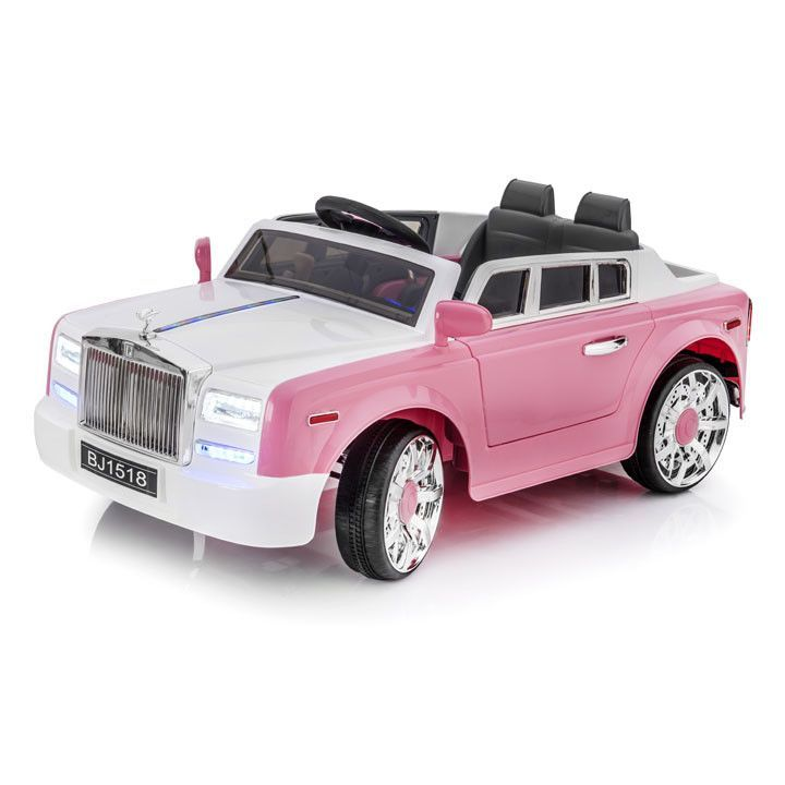 SPORTRAX ROLLS ROYCE STYLE PHANTOM 1 SEATER KIDS 12V RIDE-ON CAR | PINK