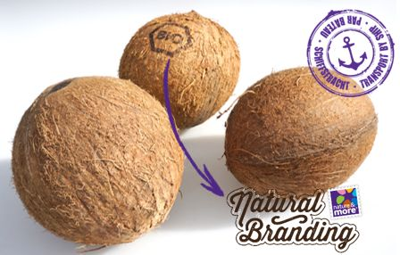 Organic Coconut from Africa, with Natural Branding.  #natureandmore #organic #coconut #naturalbranding