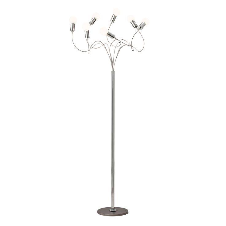String+7+Gulvlampe+Snowball+E14+LED,+Krom,+Herstal