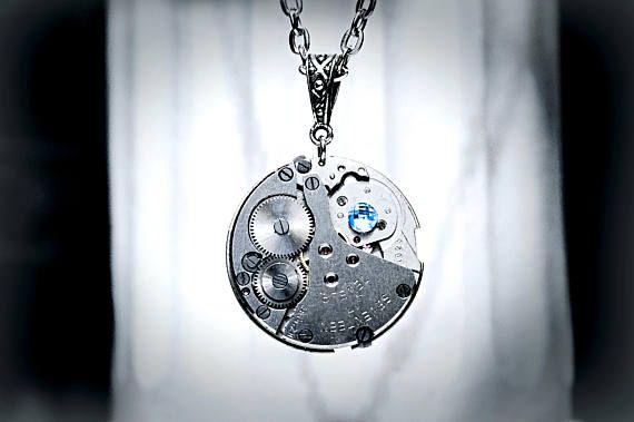 Steampunk BDSM plateado collar antiguo de época soviética de