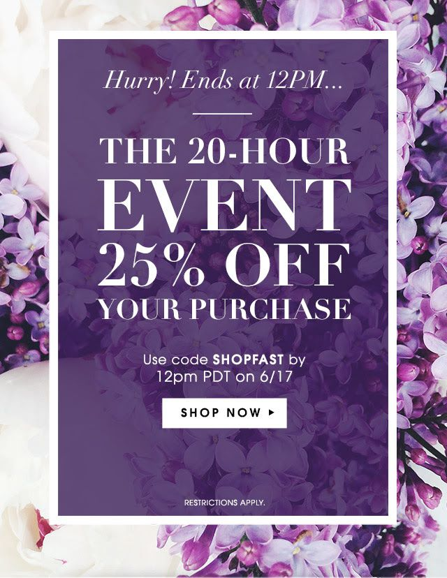 Hurry! Ends at 12PM... // Piperlime Sale Email Design