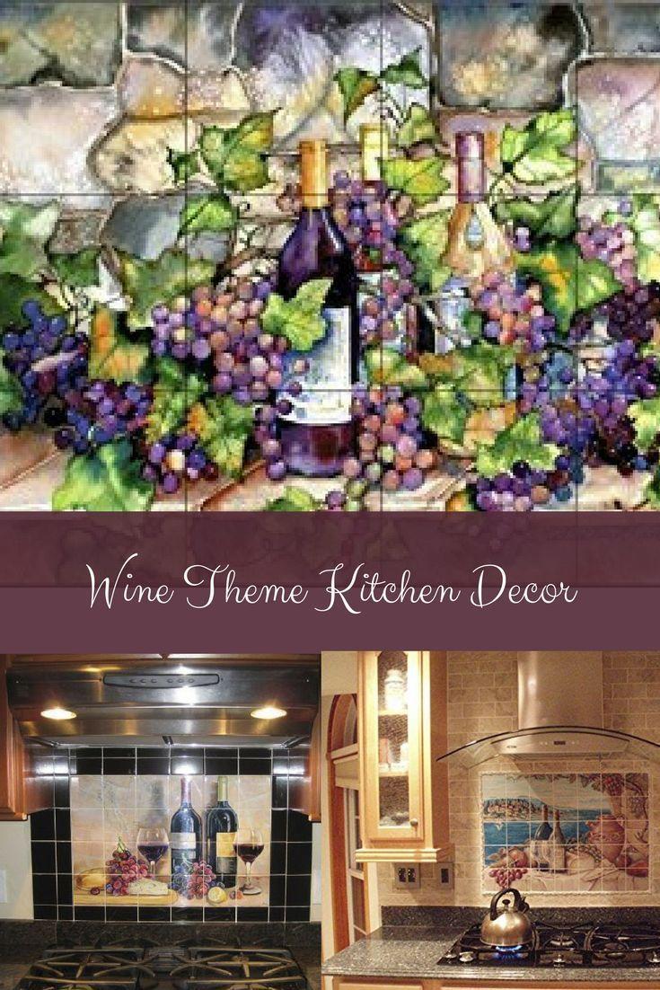 122 best kitchen decor images on pinterest kitchen for Vineyard themed kitchen ideas