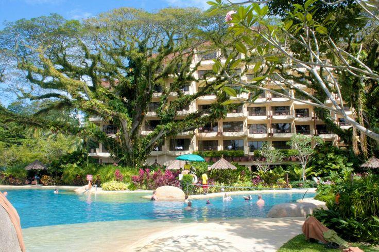Rasa sayang resort hotel, nice collaboration between sands, buildings and water