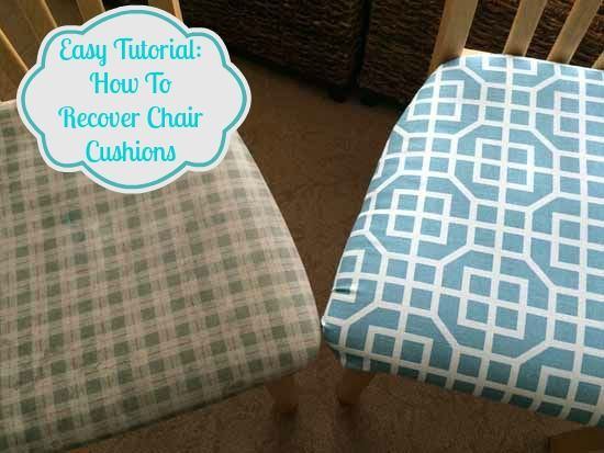 How to Reupholster Your Kitchen or Dining Room ChairsThe 25  best Recover dining chairs ideas on Pinterest  . Recover Chair Pad. Home Design Ideas