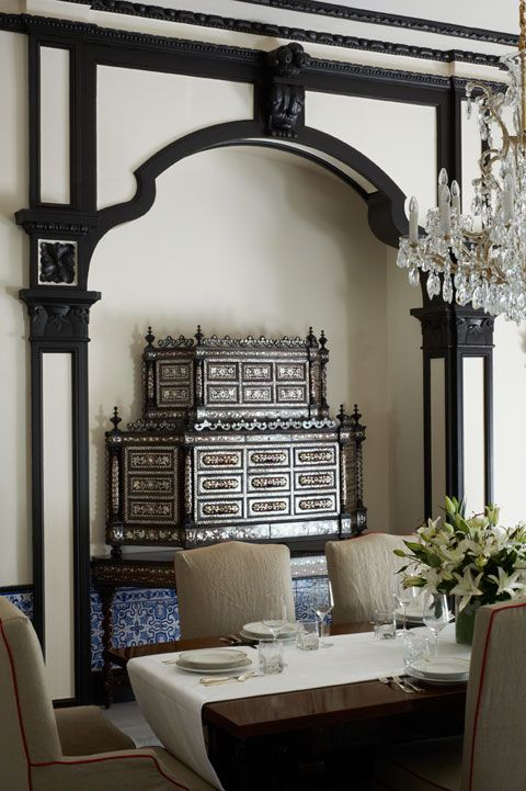 Royal Suite at Hotel Alfonso XIII, Seville, designed by HBA/Hirsch Bedner Associates