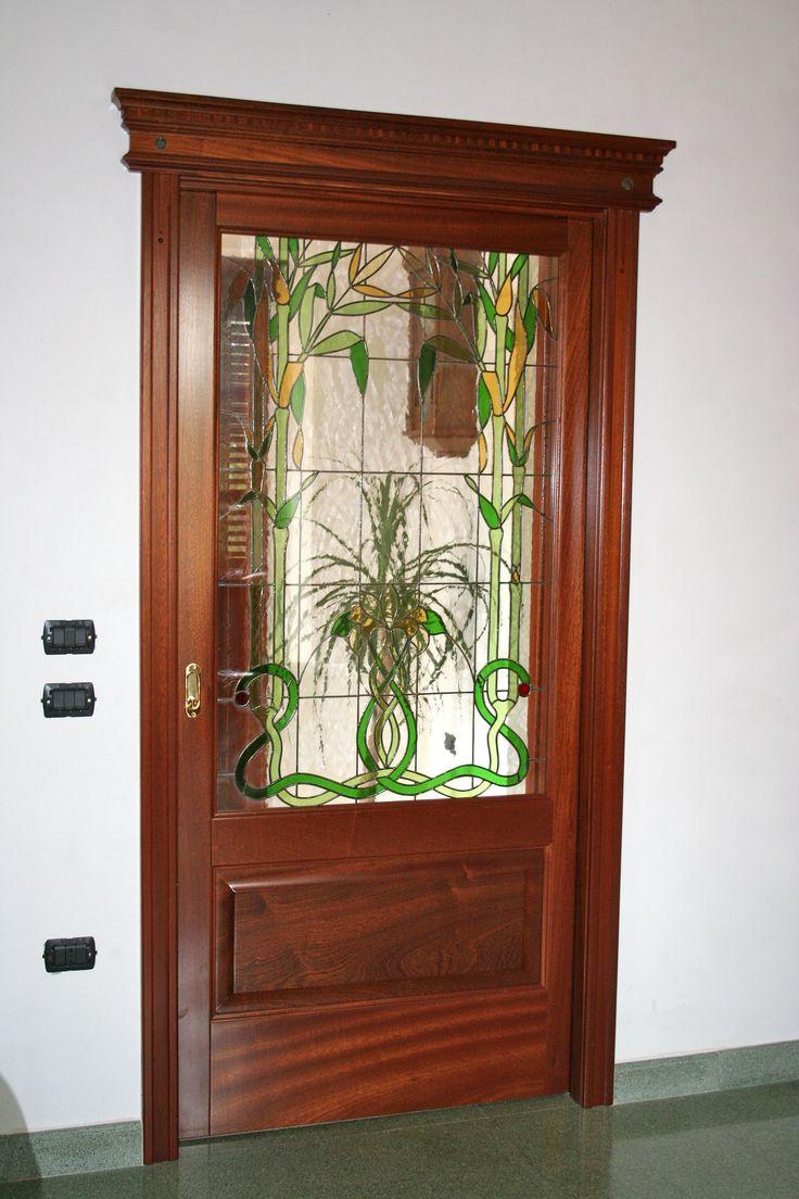 porta interna con vetro decor