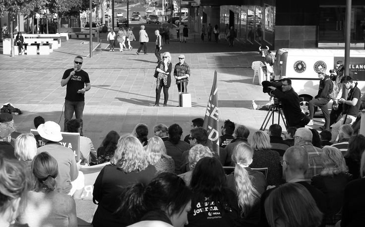 https://flic.kr/p/t8z32a | IMG_4902 edit2 copy | Another round of job cuts by Fairfax Media will see dozens of jobs cut from regional NSW newsrooms. The Illawarra Mercury's pool of photographers will be cut from 8 to 2.5. Members of the community joined a rally in Wollongong on 23 May 2015 to show their support for the local newspaper.